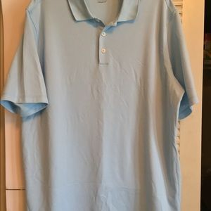 Adidas ClimaLite Men's 2XL Baby Blue Golf Polo